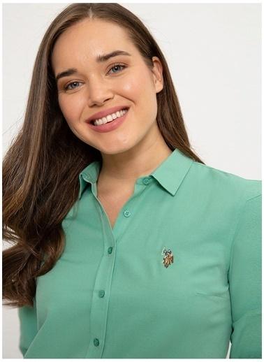 U.S. Polo Assn. U.S. Polo Assn. Slim Fit Mint Gömlek Yeşil